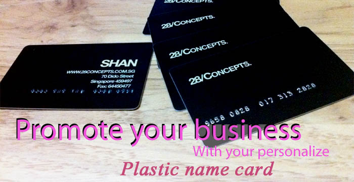 Personalize PVC namecards